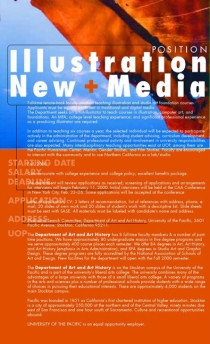 NEW MEDIA faculty position
