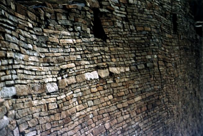 anasazi rock wall #2